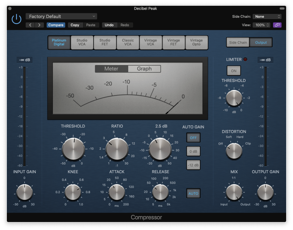 kick drum compression settings