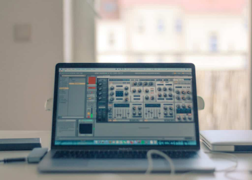 best apple laptop for music production - this macbook pro is running ableton live
