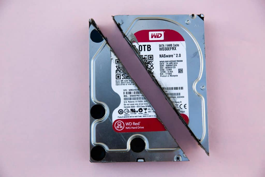 best external hard drive for music production - an image of an obsolete hard disk drive