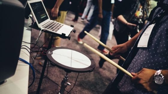 best way to record drums at home - electronic drum pad