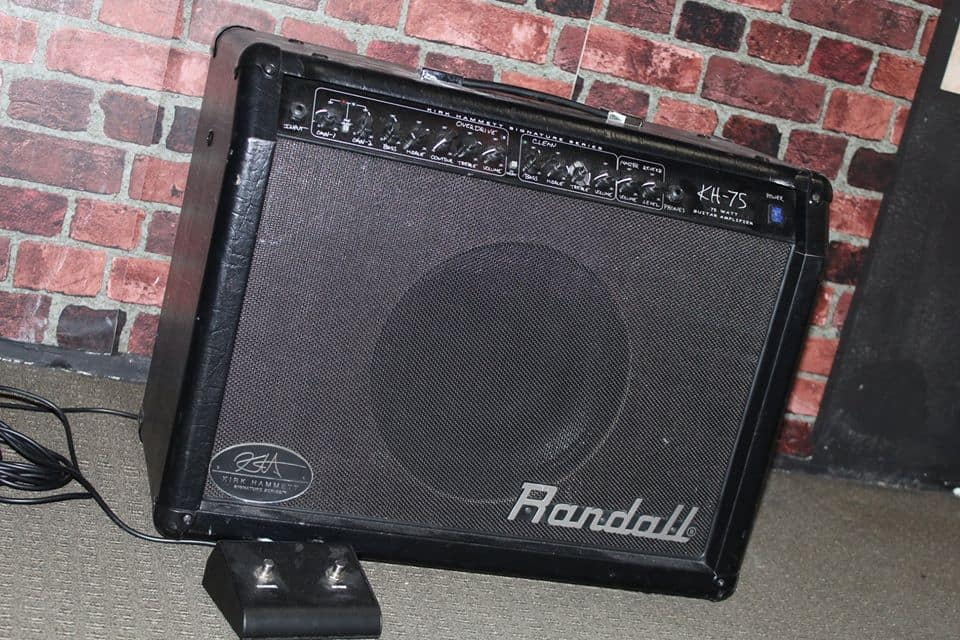 how to record a guitar amp without a mic - the randall kh75