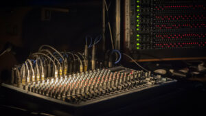 the difference between mixing and mastering - mixing console