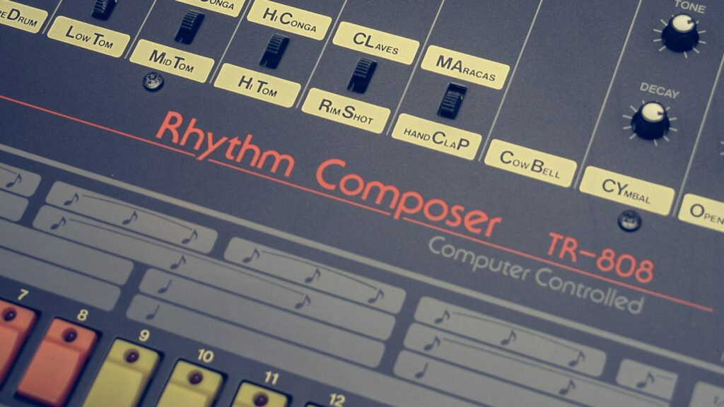 recording drums one at a time - roland tr-808 drum machine
