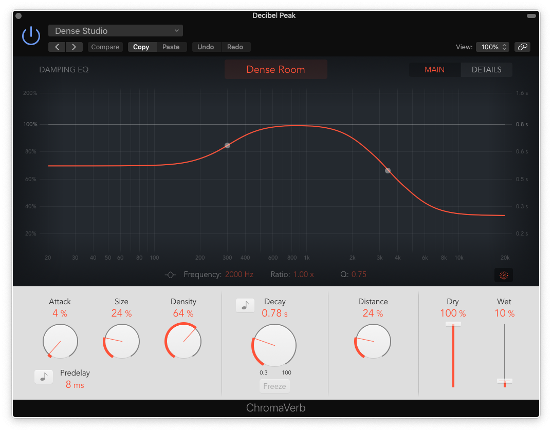 how to mix bass guitar in logic pro x - chromaverb settings for bass guitar