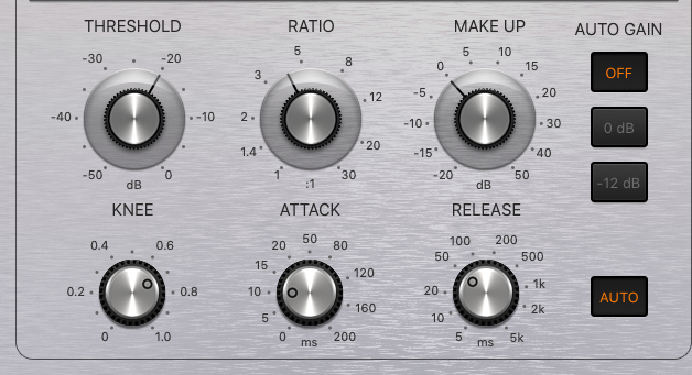 how to mix bass guitar in logic pro x - compressor settings for bass guitar 2