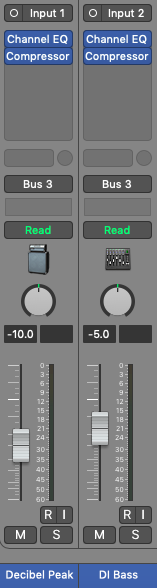 how to mix bass guitar in logic pro x - multi-tracking bass guitar