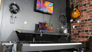 standing desk for music production - decibel peak