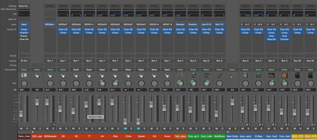 the difference between mixing and mastering - mix bus example