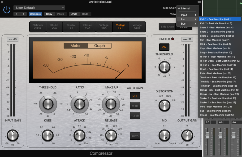 how to use sidechain compression in logic pro x - triggering compressor using istrument output