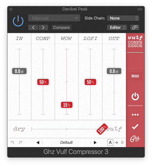 4 of the best plugins for mixing and mastering - vulf compressor default